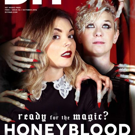 Honeyblood On Cover Of DIY, October 2016